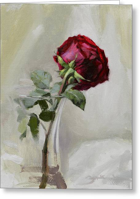 Big Rose Greeting Card by Ben Hubbard