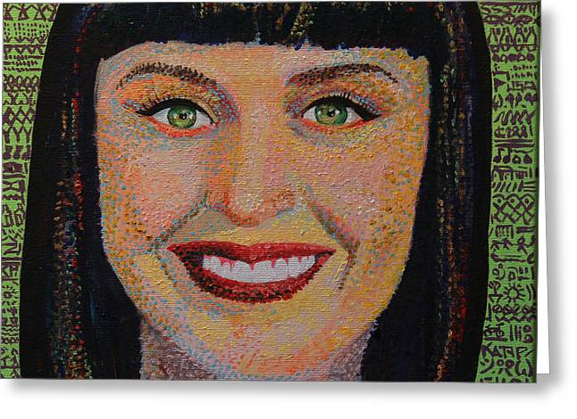 Katy Perry Greeting Cards - Katy Perry Portait Greeting Card by Robert Yaeger