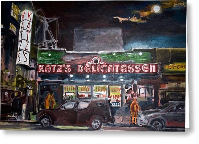 Katz Deli Greeting Card by Wayne Pearce
