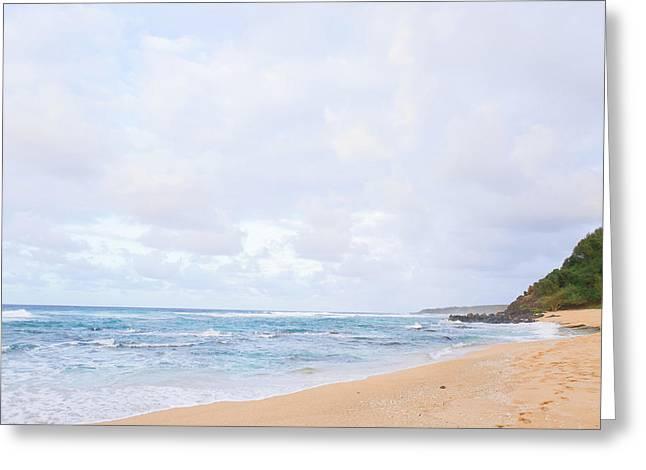 Kauai Ocean Landscape Photography On Beach 2 Greeting Card by Ariane Moshayedi