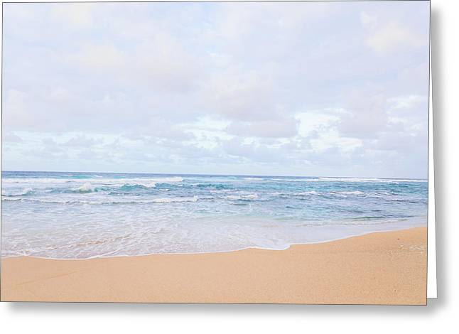 Kauai Ocean Landscape Photography On Beach 3 Greeting Card by Ariane Moshayedi