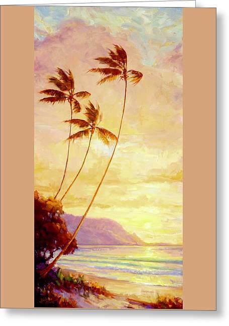 Kauai Sunset Greeting Card by Jenifer Prince