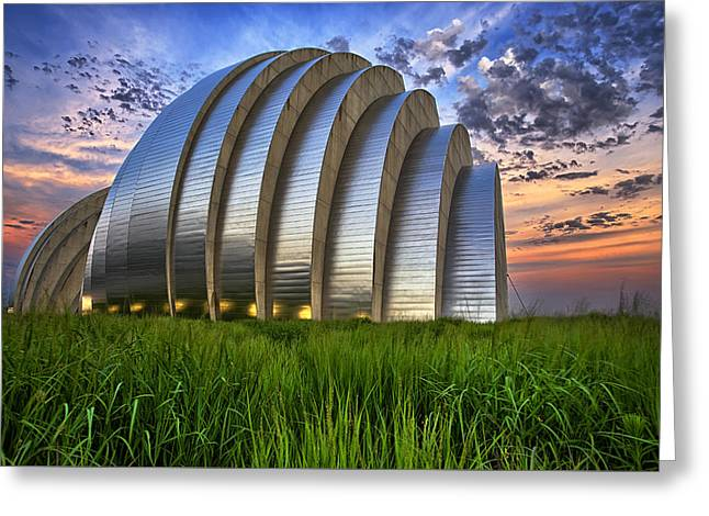 Kc Greeting Cards - Kauffman Lawn Greeting Card by Thomas Zimmerman