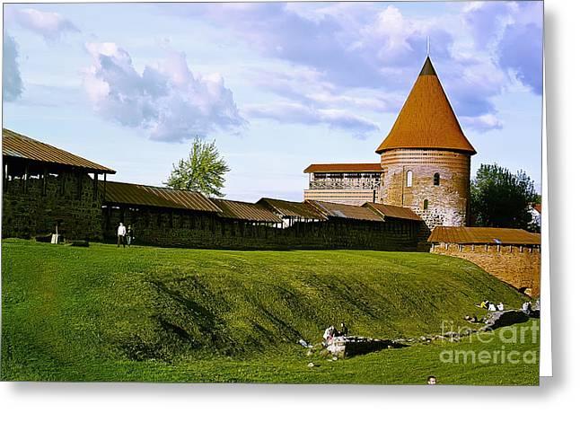 Kaunas Castle Greeting Card by Arvydas Kantautas