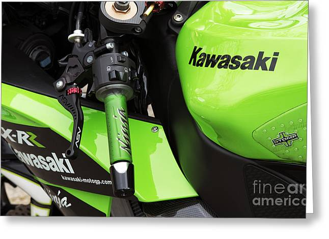Rr Greeting Cards - Kawasaki Ninja ZX-RR Greeting Card by Tim Gainey