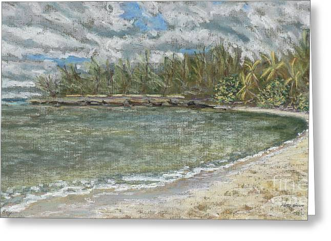 Sand Pastels Greeting Cards - Kawela Bay Greeting Card by Patti Bruce - Printscapes