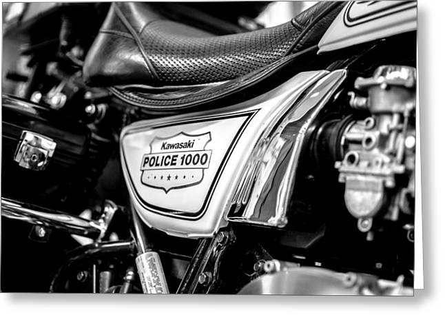 Police Cruiser Greeting Cards - Kawi Greeting Card by Jacob Eveler