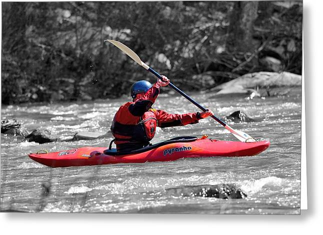 Kayak 1 Greeting Card by Todd Hostetter