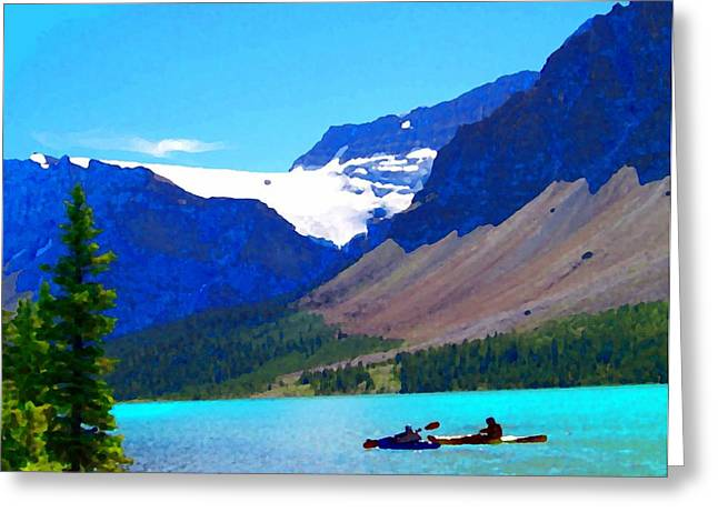 Slide Prints Digital Greeting Cards - Kayak Heaven Greeting Card by Greg Hammond