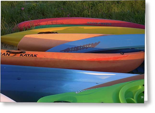 Kayak Greeting Card by Tom Romeo