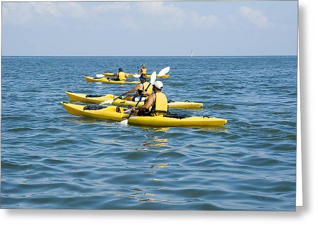 Kayak Trip Greeting Card by Stacey Lynn Payne