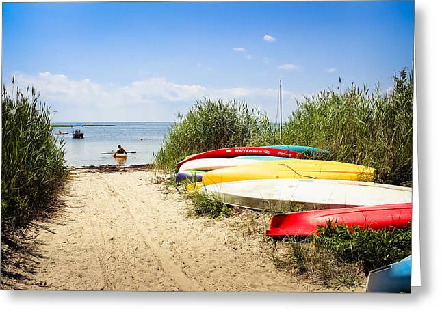 Photos Fitness Greeting Cards - Kayaking Greeting Card by Colleen Kammerer