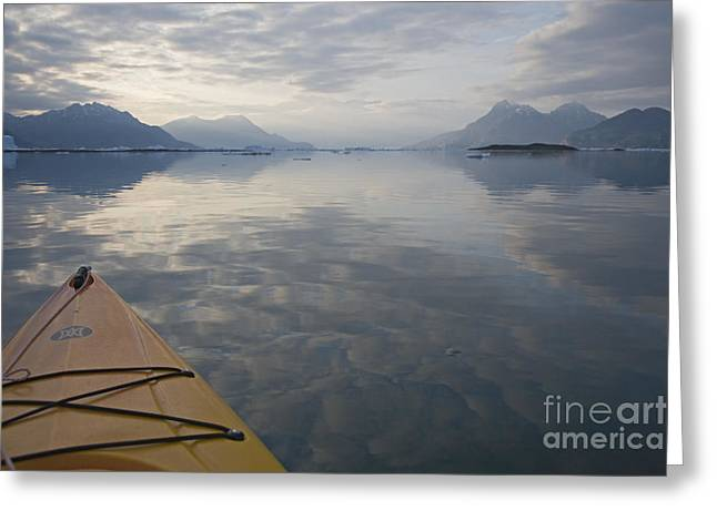 Kayak Greeting Cards - Kayaking on Glass Greeting Card by Tim Grams