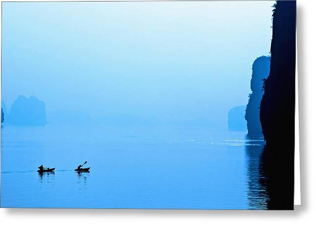 Kayaking Greeting Card by Skip Nall
