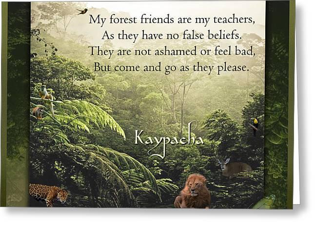 Jaguars Greeting Cards - Kaypachas mantra 7.1.2015 Greeting Card by Richard Laeton