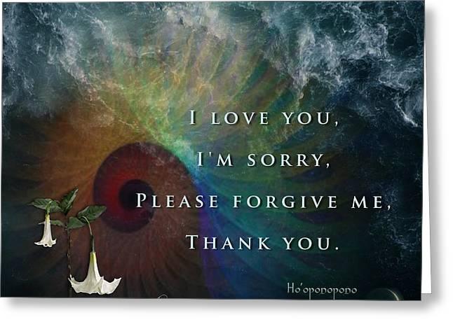 Sensitivity Greeting Cards - Kaypachas mantra 7.15.2015 Greeting Card by Richard Laeton