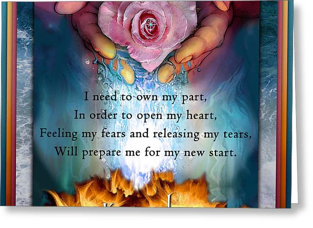 Own Thoughts Greeting Cards - Kaypachas mantra 8.5.2015 Greeting Card by Richard Laeton