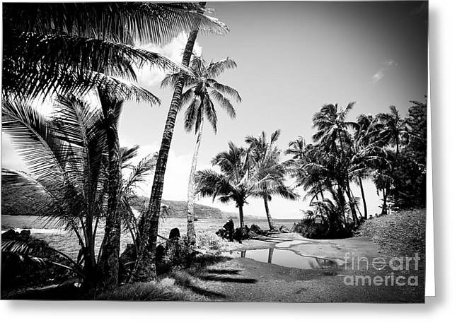 Paradise Road Greeting Cards - Keanae Landing Maui Hawaii Greeting Card by Sharon Mau
