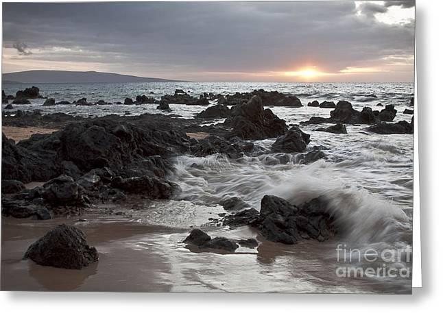 Dew Digital Greeting Cards - Keawakapu Kahaulani Dew of Heaven Maui Hawaii Greeting Card by Sharon Mau