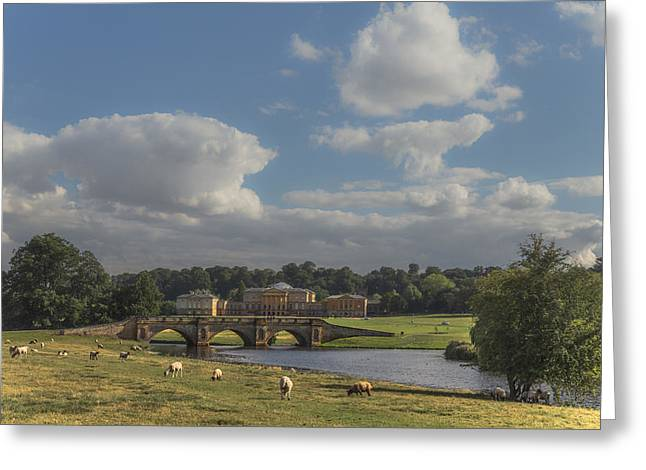 Hall Greeting Cards - Kedleston Hall Greeting Card by Chris Fletcher