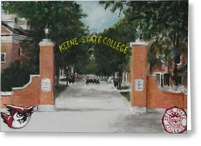 Greeting Cards - Keene State College Greeting Card by Jack Skinner