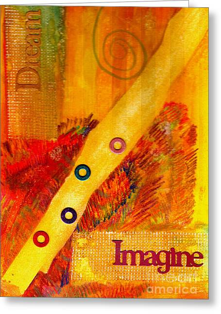 African Inspired Art Greeting Cards - Keep Hope Alive Greeting Card by Angela L Walker