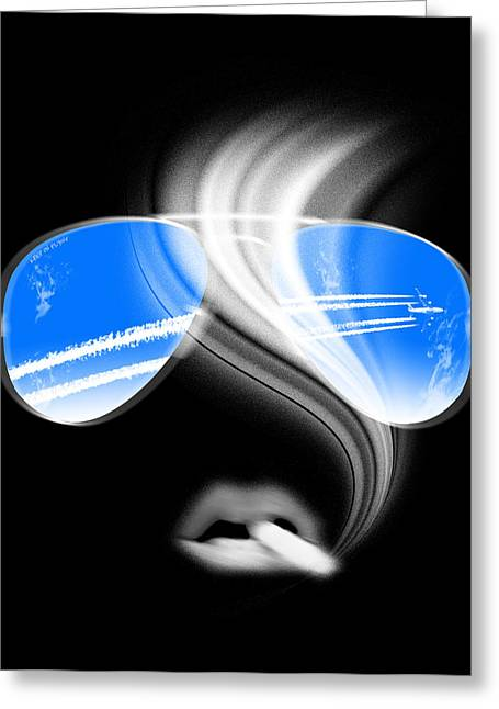 Smoking Trail Greeting Cards - Keep On Flying Greeting Card by Filippo B