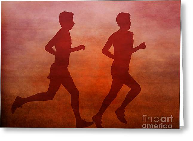 Country Schools Digital Greeting Cards - Keep On Running Greeting Card by Randy Steele
