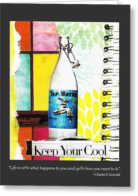 Keep Your Cool _with Border Greeting Card by Toots Magsino