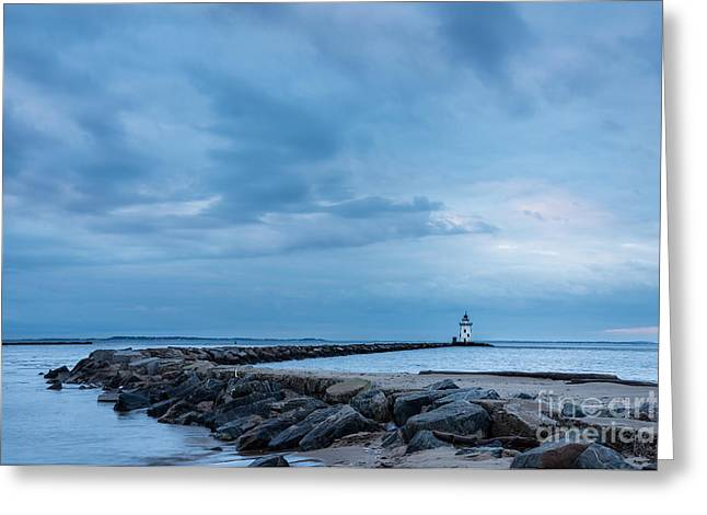 New England Ocean Greeting Cards - Keeper Woods Lament Greeting Card by JG Coleman