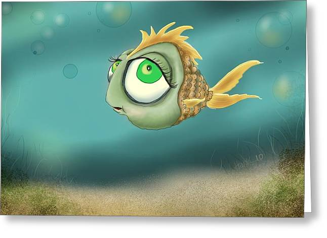 Swimming Fish Greeting Cards - Keeping On Greeting Card by Hank Nunes