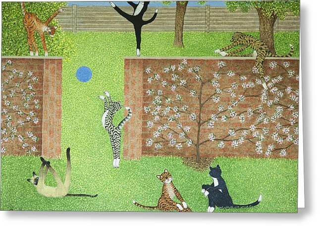 Keeping On Ones Toes Greeting Card by Pat Scott