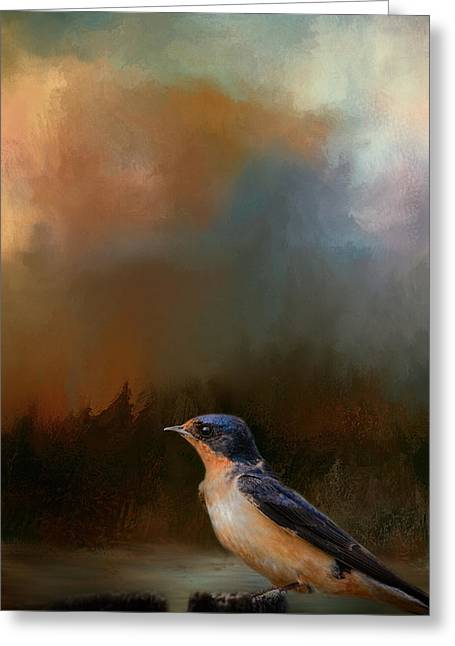 Swallow Photographs Greeting Cards - Keeping Watch Greeting Card by Jai Johnson
