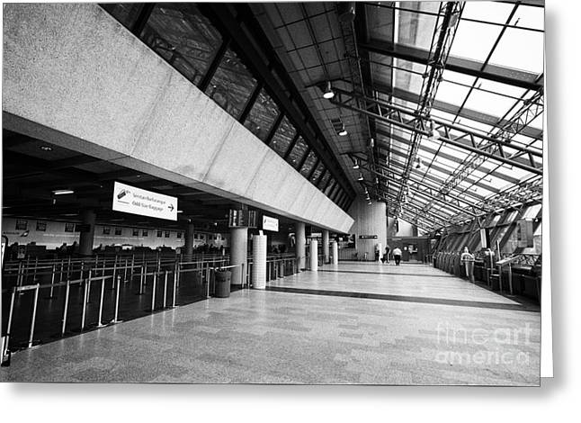 Airport Terminal Greeting Cards - Keflavik airport departures check in area terminal building Iceland Greeting Card by Joe Fox