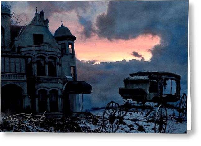 Haunted House Digital Art Greeting Cards - Keg and Carriage Greeting Card by Tom Straub