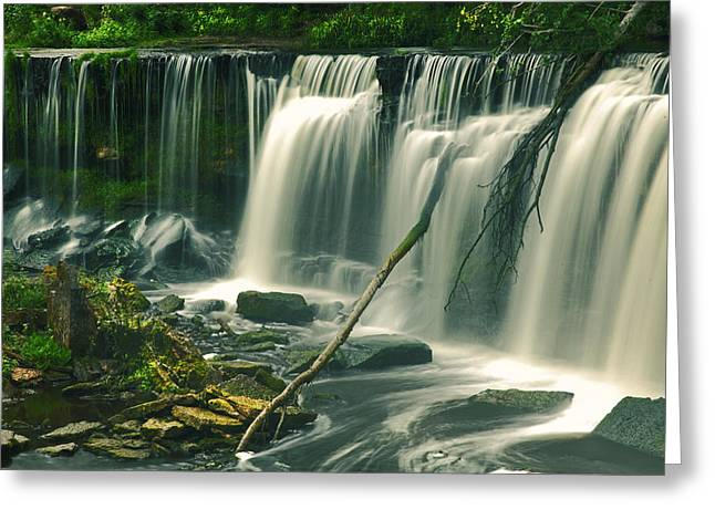 Beautiful Creek Greeting Cards - Keila Waterfall Estonia Greeting Card by Sandra Rugina