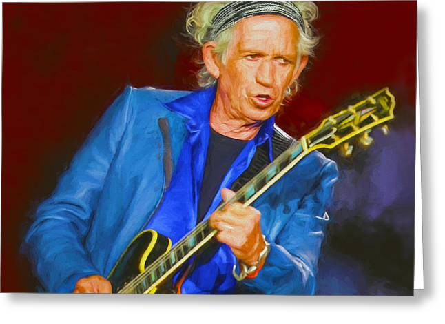 Keith Richards Paintings Greeting Cards - Keith Richards I Greeting Card by Nikola Durdevic