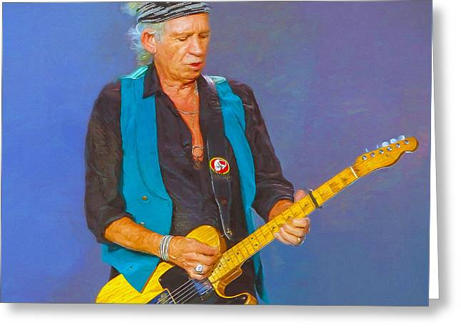 Keith Richards Paintings Greeting Cards - Keith Richards III Greeting Card by Nikola Durdevic