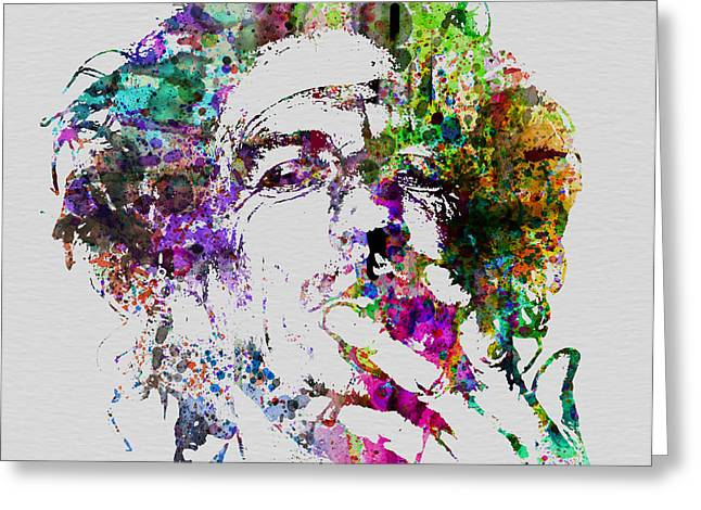 Musicians Paintings Greeting Cards - Keith Richards Greeting Card by Naxart Studio