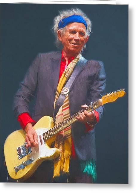 Keith Richards Paintings Greeting Cards - Keith Richards IV Greeting Card by Nikola Durdevic
