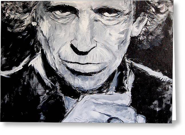 Keith Richards Paintings Greeting Cards - Keith Greeting Card by Steven Lombardi