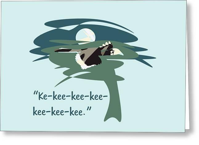 Flying Animal Greeting Cards - Kelingking Hornbill Greeting Card by Geckojoy