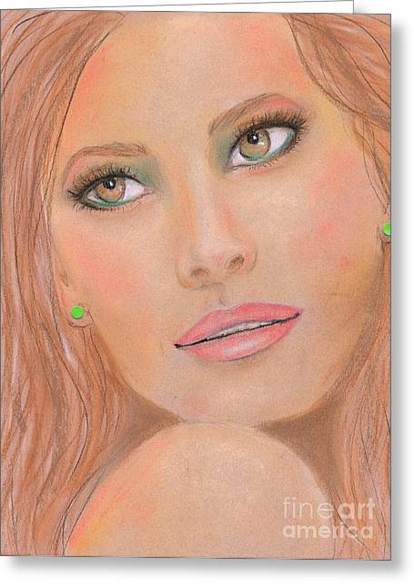 Realistic Pastels Greeting Cards - Kelly Greeting Card by P J Lewis
