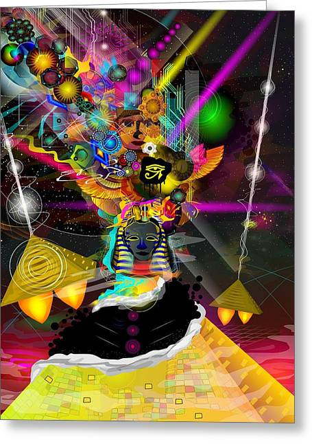 Mystic Art Greeting Cards - Kemetic Energy Greeting Card by Kevin Philippe