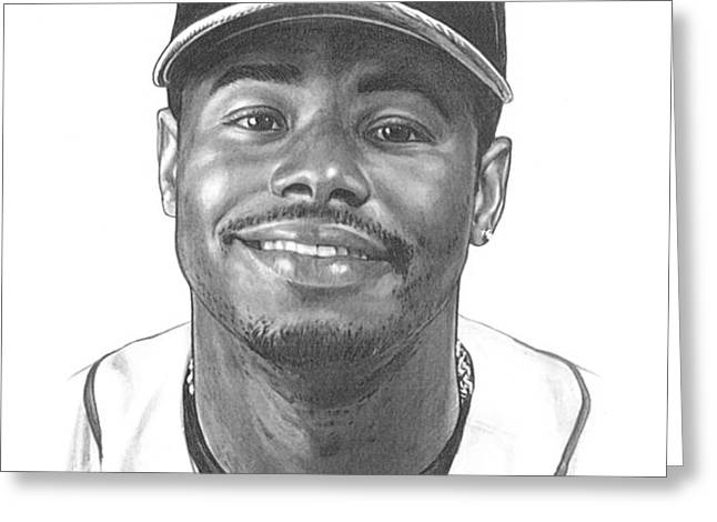 Ken Griffey Jr Greeting Card by Harry West