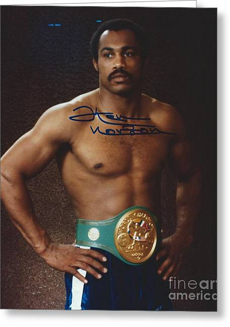 Champ. Boxer Greeting Cards - Ken Norton Greeting Card by Dennis ONeil