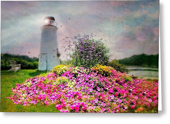 Kennebunkport Lighthouse Greeting Card by Diana Angstadt