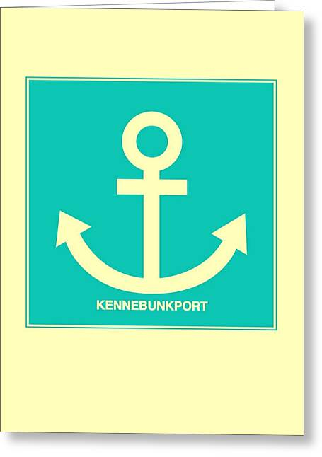 Kennebunkport Yellow Anchor Greeting Card by Brandi Fitzgerald