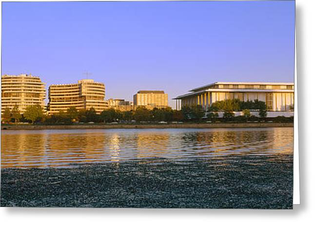 Kennedy Center And Watergate Hotel Greeting Card by Panoramic Images