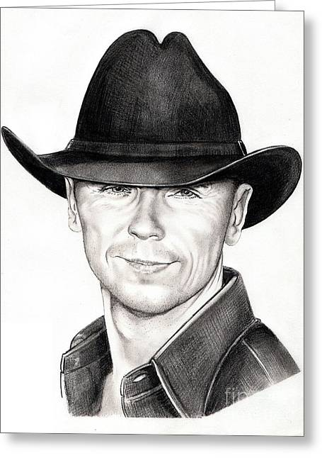 Kenny Chesney Greeting Card by Murphy Elliott